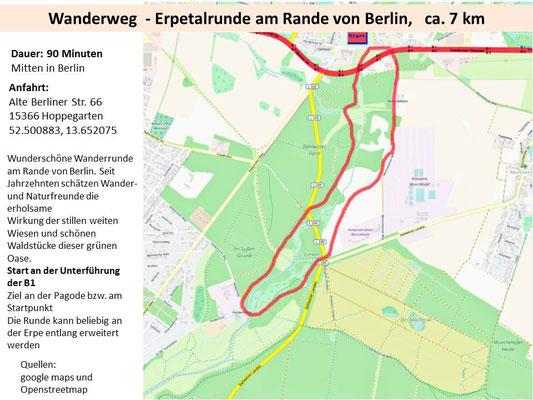 Wanderung an der Erpe bei Berlin