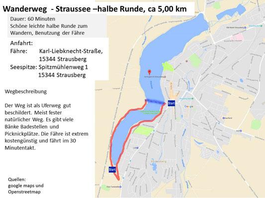 Wanderung Straussee - Halbe Runde
