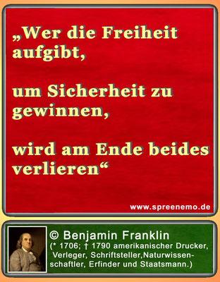 Zitat Benjamin Franklin
