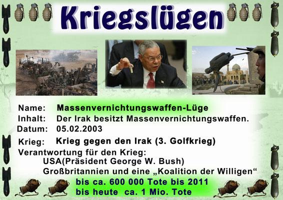Kriegslüge - Massenvernichtungswaffenlüge