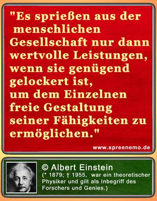 Spruch von Albert Einstein