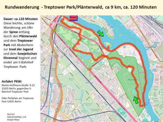 Rundwanderung  - Treptower Park/Plänterwald