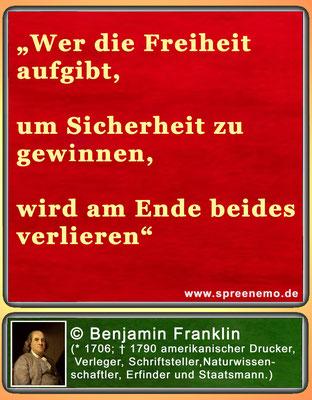 Spruch von Benjamin Franklin