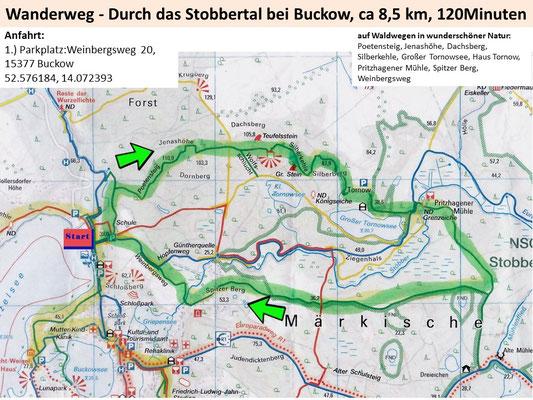 Wandern durch das Stobbertal bei Buckow