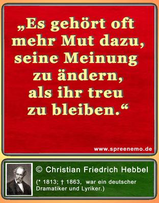 Zitat Christian Friedrich Hebbel