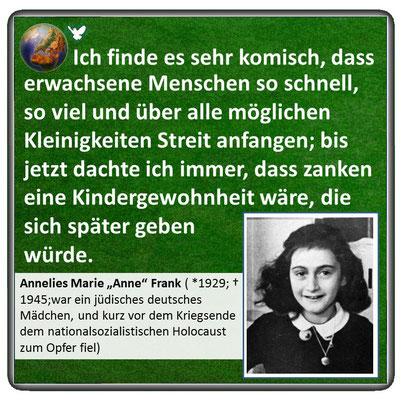 Friedenszitat von Anne Frank