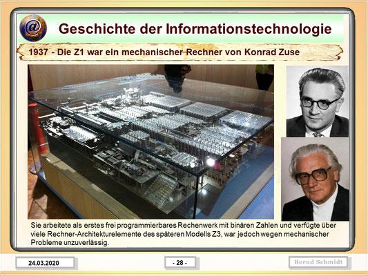 Z1 mechanischer Rechner von Konrad Zuse 1937
