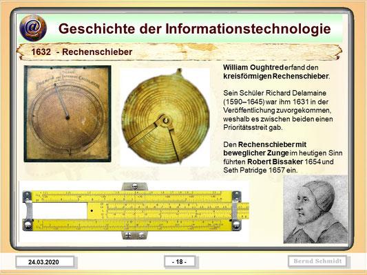 Rechenschieber 1632