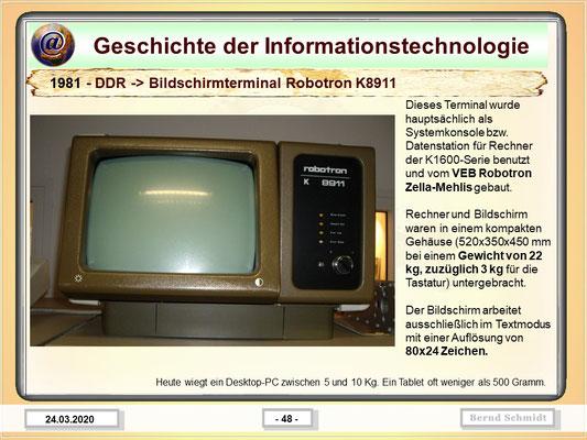 DDR- Bildschirmterminal Robotron K8911