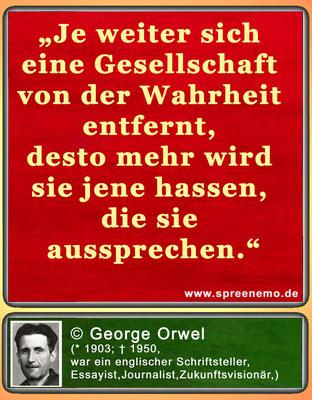 Spruch von George Orwel