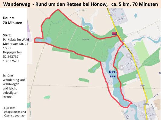 Wandern um den Retsee bei Hönow