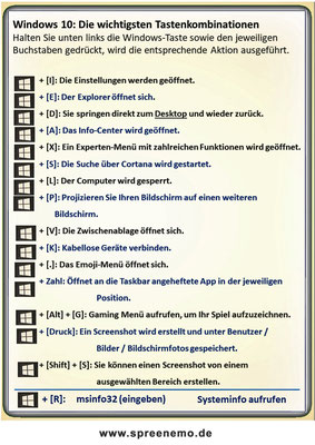 Windows 10: Die wichtigsten Tastenkobinationen