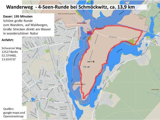 4-Seen-Runde bei Schmöckwitz