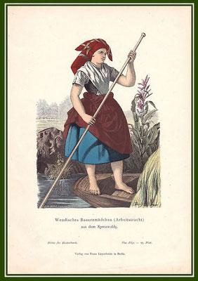 Burger-Adolf - Wendisches-Bauernmädchen-in-Arbeitstracht-aus-dem-Spreewalde
