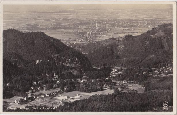 1935-Zittau-Blick-vom-Hochwald