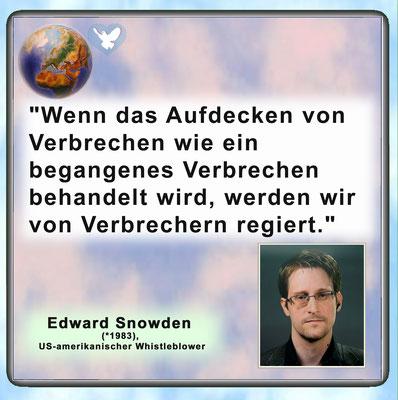 Friedenszitat von Edward Snowden