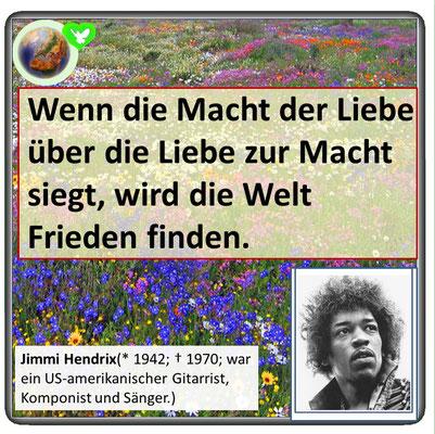 Friedenszitat von Jimmi Hendrix