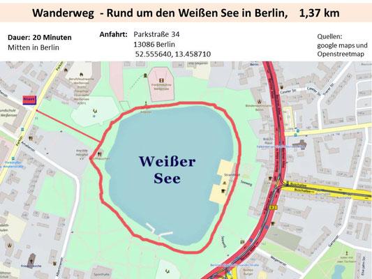 Rund um den Weißen See in Berlin
