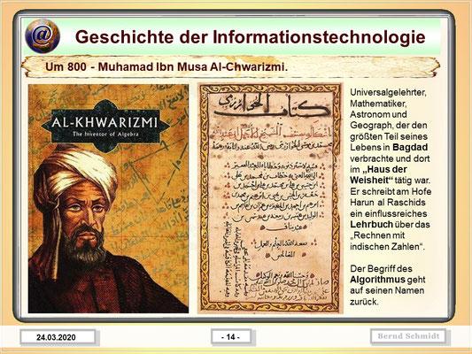 Muhamad Ibn Musa Al-Chwarizmi ca. 800