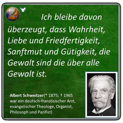 Friedenszitat von Albert Schweitzer