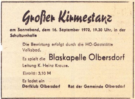Großer Kirmestanz in Olbersdorf
