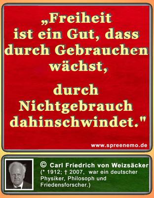 Zitat Carl Friedrich von Weizsäcker