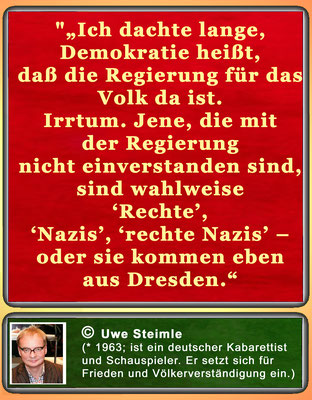 Zitat von Uwe Steimle zur Demokratie