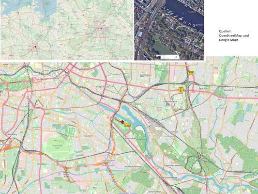 Rundwanderung  - Treptower Park/Plänterwald, ca 9 km, ca. 120 Minuten