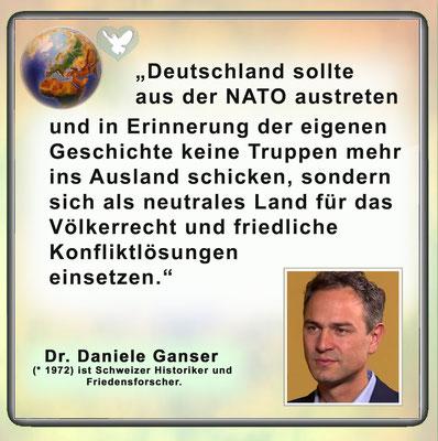 Friedenszitat von Daniele Ganser