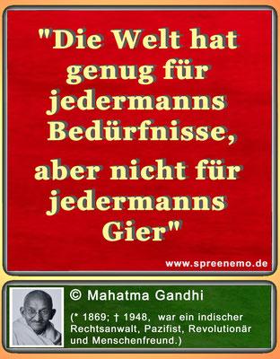 Zitat Mahatma Gandhi