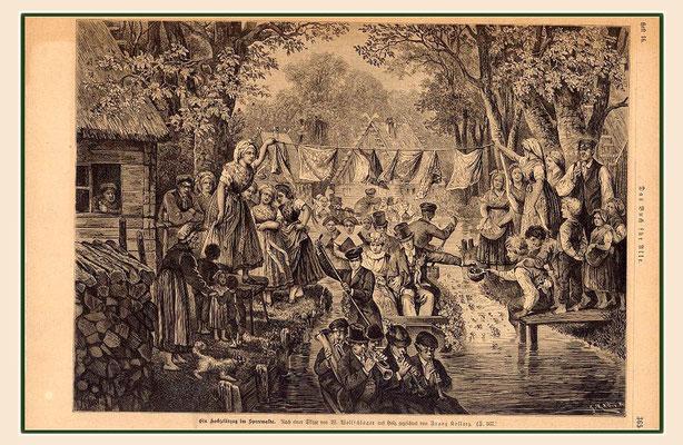 Franz-Kollarz - Ein Hochzeitszug im Spreewalde