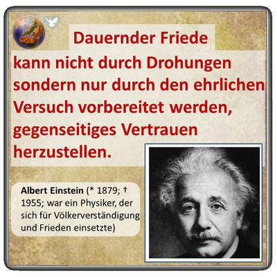 Friedenszitat von Albert Einstein