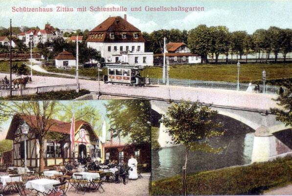 1902-1919-Zittau-Schützenhaus-mit-Schiesshalle