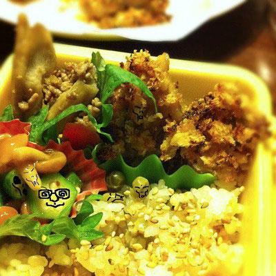 『美奈子さんのお弁当で遊ぼう!』のコーナー だぉ。w  【先週までのあらすじ】 手招きする タンドリー児玉さん。一方、闇に潜むグレイは… 【制作日/2012年1月19日】