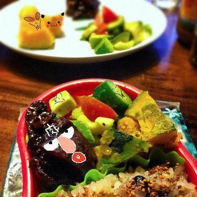 美奈子さんのお弁当で遊ぼうのコーナー、本日は バレンタインデースペシャルね! あはは。 【制作日/2012年2月14日】