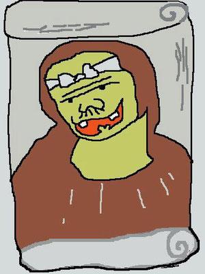 オーマイガッ! なのだ。 わしは自称画家なのだ。 【制作日/2012年8月24日】
