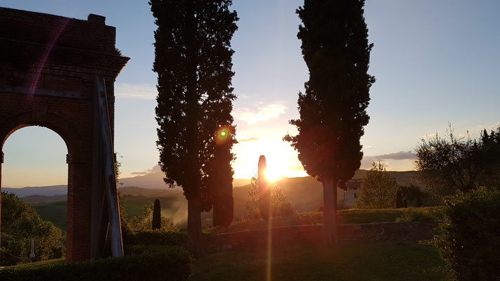 Fonteverde Toskana Sonnenuntergang