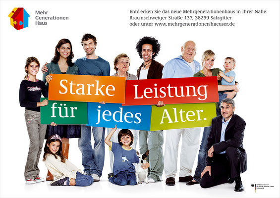Einführungskampagne Aktionsprogramm Mehrgenerationenhäuser | Art Direction: Carlo Joest