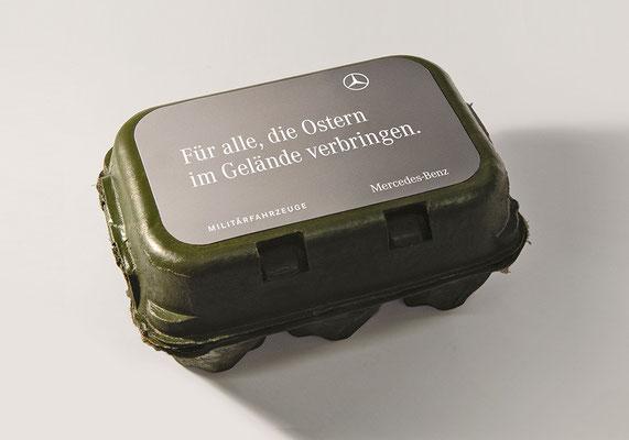 Mercedes Benz Militärfahrzeuge Ostermailing | Art Direction: Carlo Joest