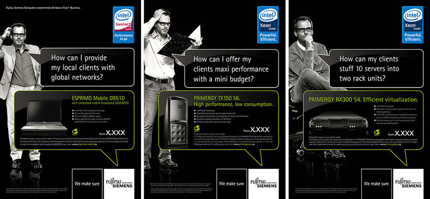 Fujitsu Siemens Computers B2B | Art Direction: Carlo Joest