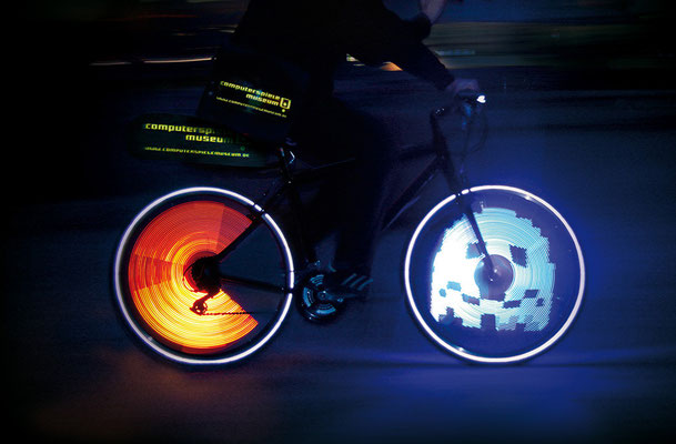 Computerspielemuseum Berlin: Das PacMan-Fahrrad | Art Direction: Carlo Joest