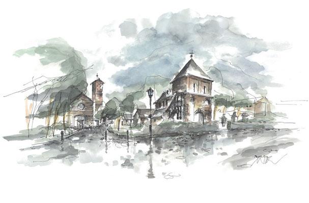 Zeichnung Krieler Dom