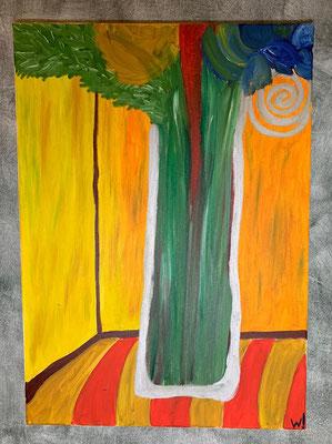 2003, Glasvase, 50x70cm, Ölfarbe auf Leinwand, 145 Euro
