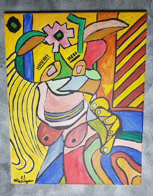 2001, Frau, 40x50cm, Ölfarbe auf Leinwand, 100 Euro