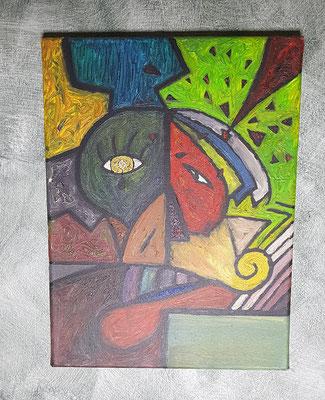 2001, Träne der Seele, 30x40cm, Ölfarbe auf Leinwand, 95 Euro