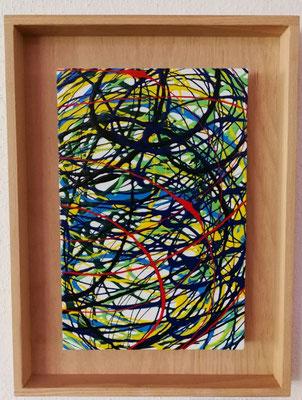 2018, Farbenkreise, 30x40cm, Acrylfarbe auf Leinwand mit Holzrahmen, 95 Euro