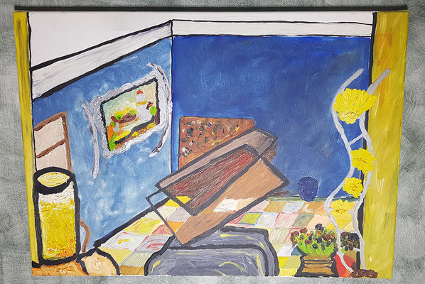 2003, Ein volle Glas Orangensaft, 50x70cm, Ölfarbe auf Leinwand, 145 Euro
