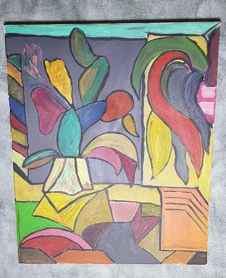 2001, Kaktus, 50x60cm, Ölfarbe auf Leinwand, 125 Euro