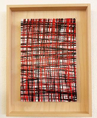 2020, Schwarz-Rot, 30x40cm, Acrylfarbe auf Leinwand mit Holzrahmen, 95 Euro