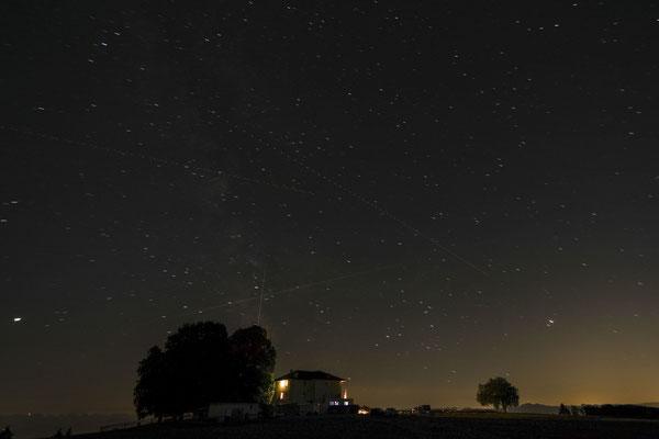 Sternschnuppen und Flugzeuglichter...